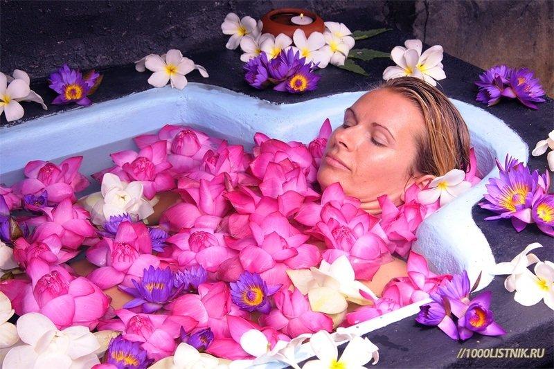 Ванна с травами и аромаслами в салоне