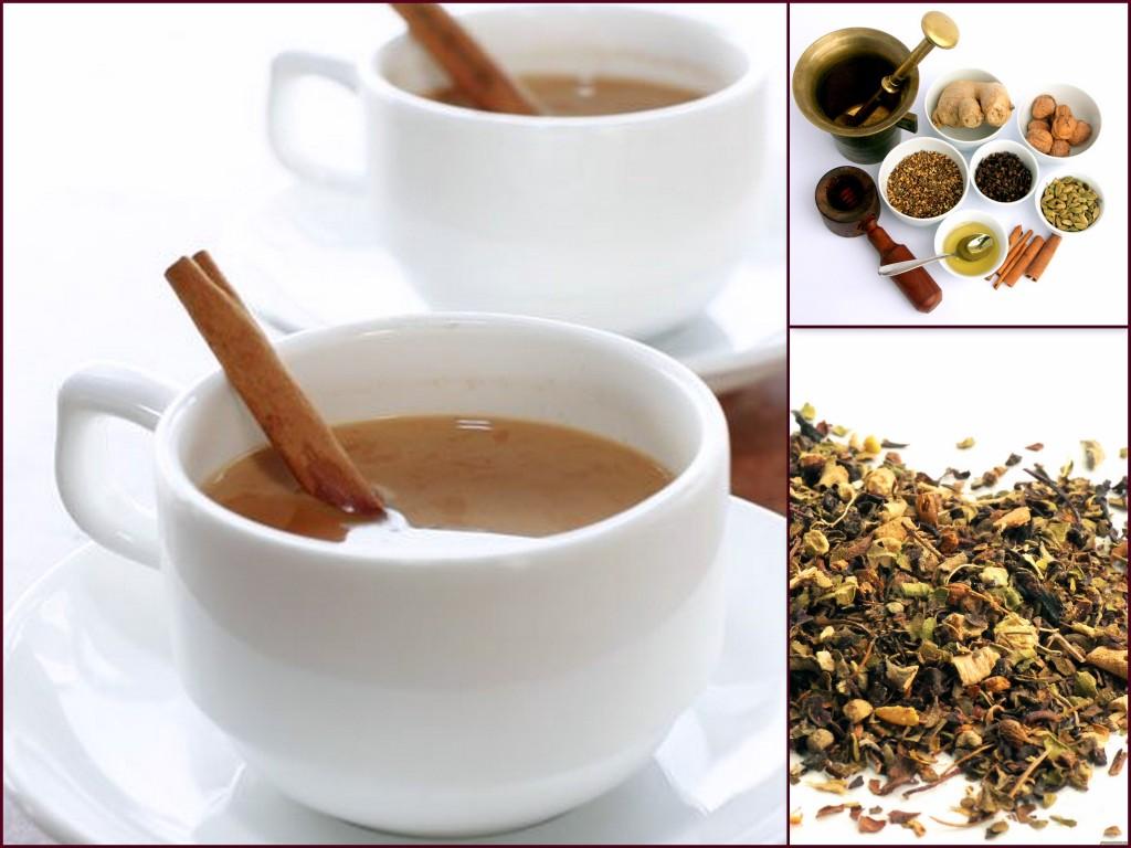 Две кружки с чаем из масалы