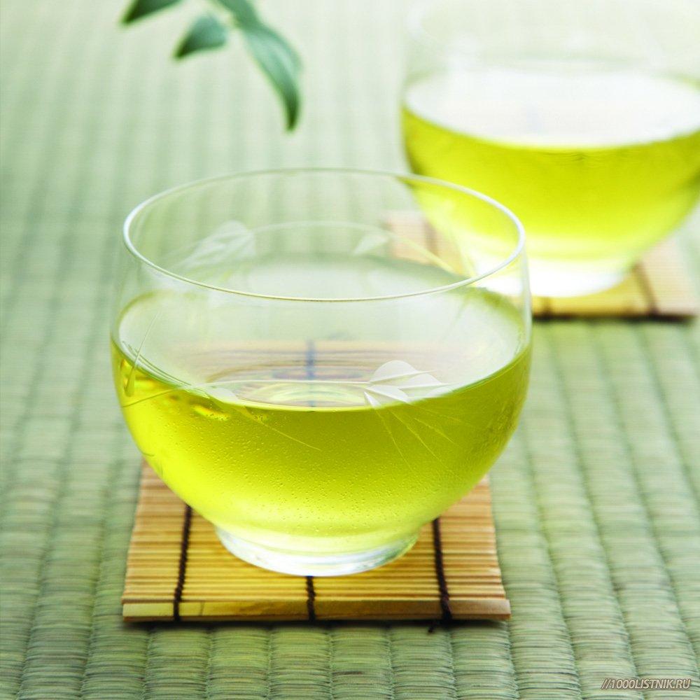 Зеленый чай из имбиря и чабреца