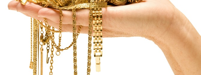 Разнообразие золотых украшений