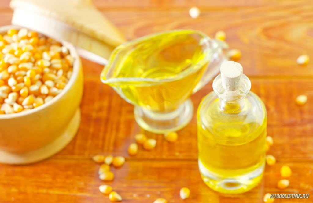 Растительное масло из зерен кукурузы