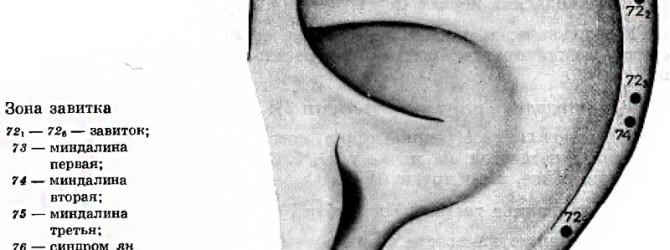 Микромассаж точек уха