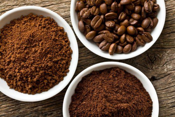 Молотые и целые кофейные зёрна