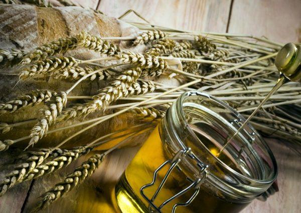 Пшеница и масло