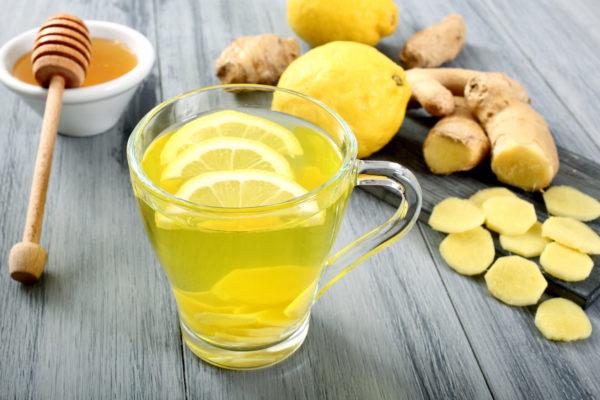 Чай с лимоном, мёдом и имбирём