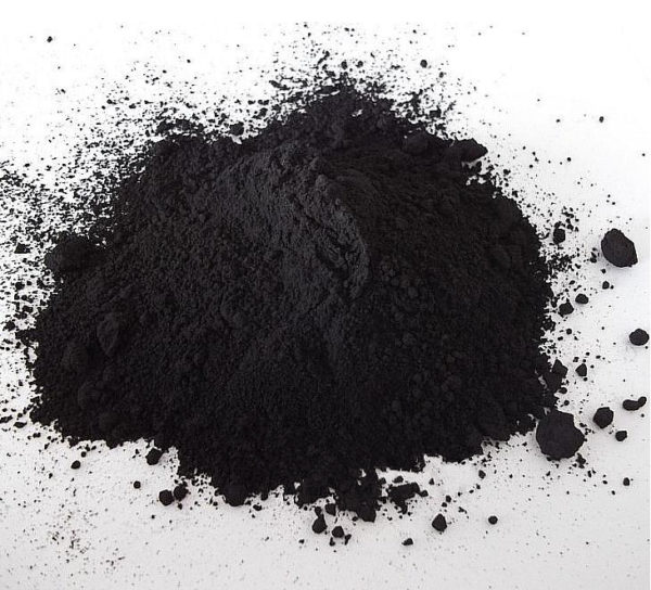 Активированный уголь, растёртый в порошок