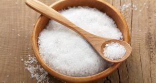 Соль в чашке и ложке