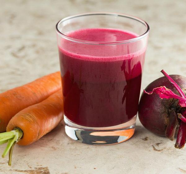 Морковь, свёкла и овощной сок