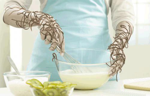 Глисты на руках во время приготовления пищи