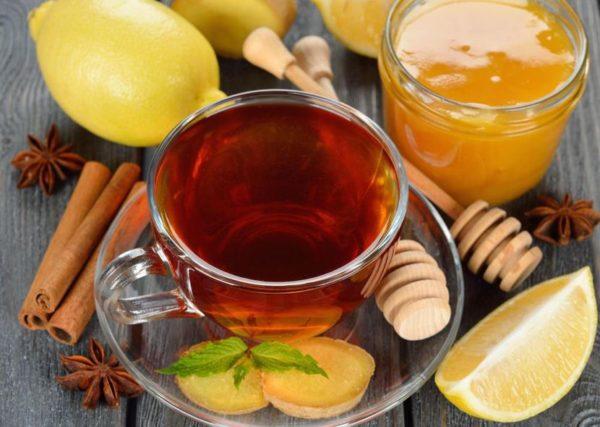 чай с медом при температуре