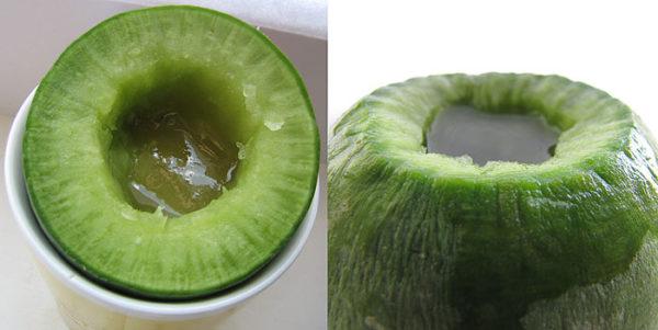 Зелёная редька с мёдом
