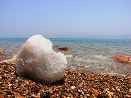 Кристаллы соли Мёртвого моря