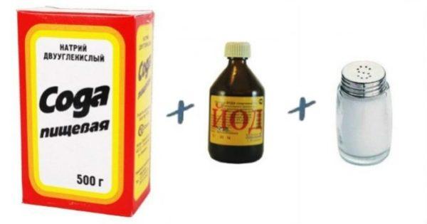 Сода с солью и йодом
