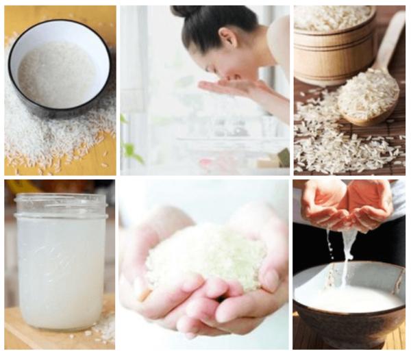 Коллаж с рисовой водой