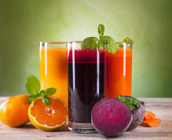 Три стакана сока