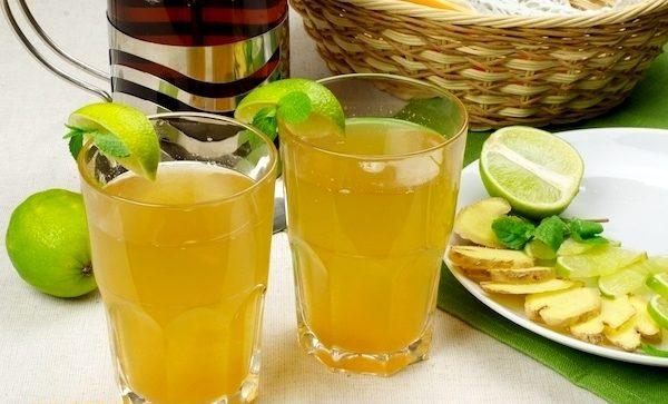 Чай с имбирём, лимоном и мёдом