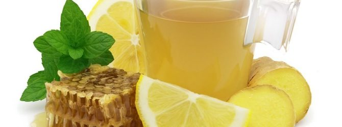 имбирь, лимон, мёд